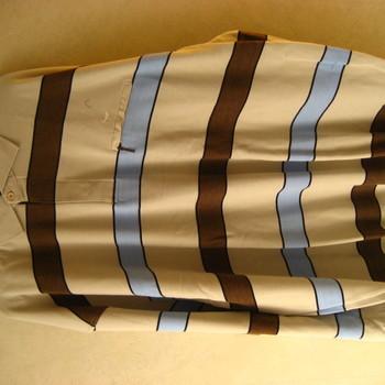polo longues manches ligné beige pour homme - grandes tailles en PROMO 4XL - 5XL - 6XL