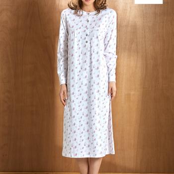 robe de nuit coton jersey - angelina turquoise : reste S