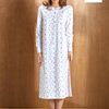 robe de nuit coton jersey - angelina turquoise : reste S - XL