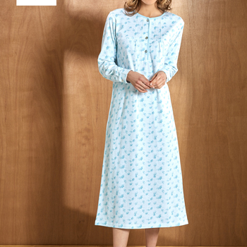 robe de nuit coton lourd interlock - angelina - rose - reste S - XL - XXL - 3XL