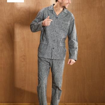 pyjama boutonné flanelle pour homme - hugo jusque Taille 64