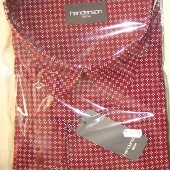 chemise longues manches henderson - bordeau 3xl