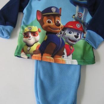 pyjama polaire pat patrouille pour enfant de 2 et 6 ans