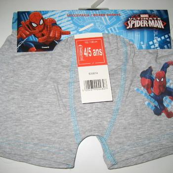 2 shorties coton spiderman pour les garçons de 2 à 8 ans