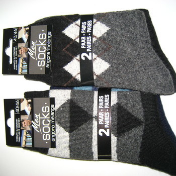 chaussettes avec laine & angora 40/46 : 2 pour 3,10€