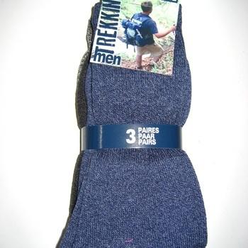 chaussettes bouclettes jaspées avec coton pour homme - trekking : 3 pour 3€ - 39/42 43/46