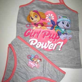1 chemisette sans manches + 1 culotte Pat Patrouille en coton pour les filles de 2 à 8 ans