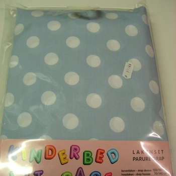 parure de draps imprimée en coton pour lit-cage