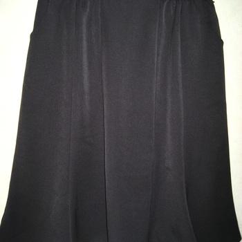 jupe godet taille élastique avec poches noire pour dame - 54/56