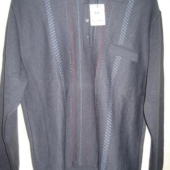 pull polo classique avec laine - marine
