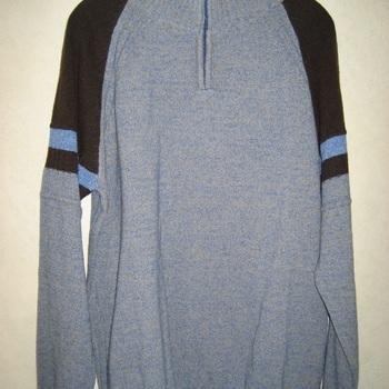 pull 1/2 tirette chiné avec laine - épaules de couleur pour homme EN PROMO - M - L - XL - XXL