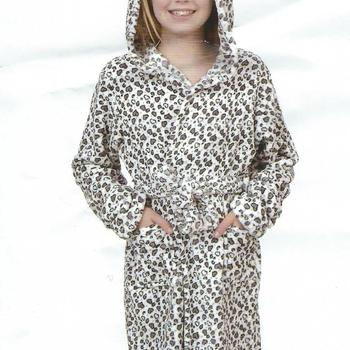 peignoir croisé doux & chaud avec cape pour filles de 14 ET 16 ans - coeur