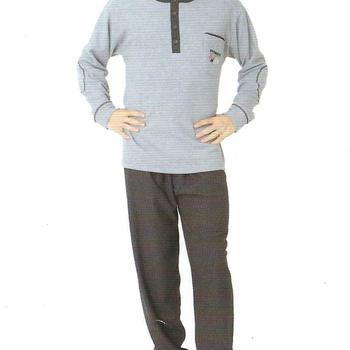 pyjama tout doux en coton pour homme - reste L en bleu jeans EN PROMO