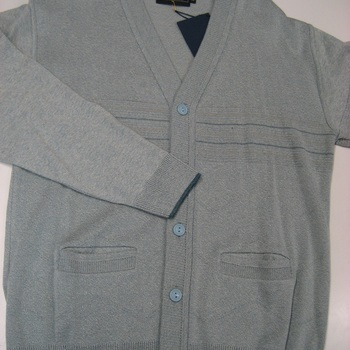 gilet boutonné léger classique pour homme - gris clair - reste XL & XXL