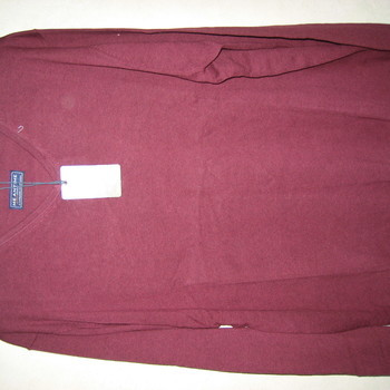 pull V en coton pour homme - grandes tailles - bordeau en PROMO 4XL - 5XL - 6XL