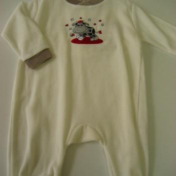 pyjama velours rasé vache 1 pièce