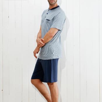 pyjashort coton pour homme - maurice - grandes tailles