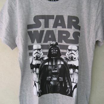 t-shirt star wars de 8 à 14 ans - gris ou blanc
