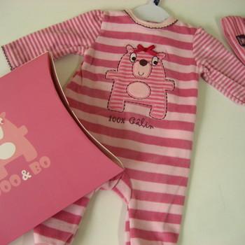 pyjama velours rasé fille + bonnet assorti