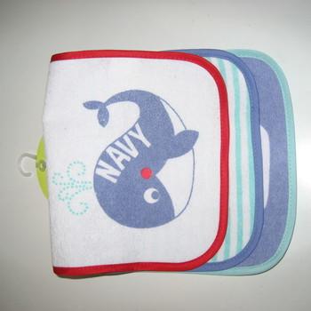 bavoirs éponge dos plastifié pour les bébés - baleine - 3 pour 3.40€
