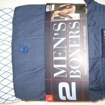 boxer coton (modèle ample) pour homme : 2 pour 7€ reste marine S - L -XXL - noir XL