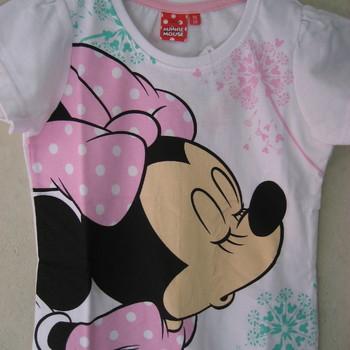 t-shirt coton minnie pour filles de 2 à 9 ans : blanc ou gris