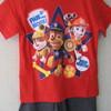 pyjashort coton pat patrouille pour garçons de 2 à 9 ans - rouge ou bleu