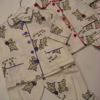 pyjama 2 pièces flanelle souris