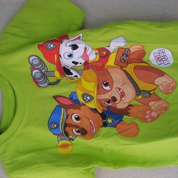 t-shirt coton pat patrouille pour enfants de 2 à 9 ans : vert ou bleu