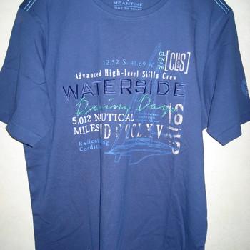 t-shirt coton pour homme - waterside dans 4 coloris différents - meantime