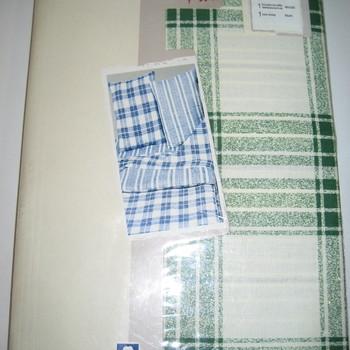 housse de couette 1.40*2m + 1 taie en 100% coton - carreaux verts EN PROMO