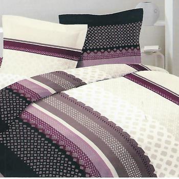housse de couette 1.4*2m en polyester-coton (tergal) pour lit d'1 personne - royal prune
