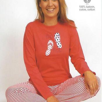 pyjama coton jersey pour dame - flip flop