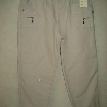 jeans strech brodé aux poches avec taille élastique pour dame - beige
