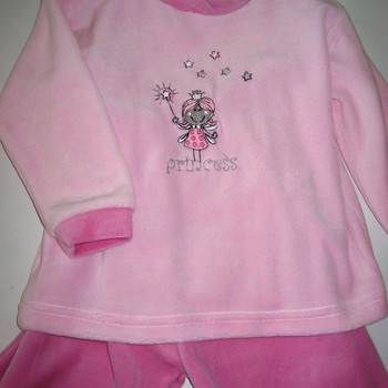 pyjama velours rasé 2 pièces princesse