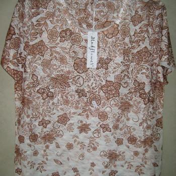 blouse courtes manches  mudflower pour dame