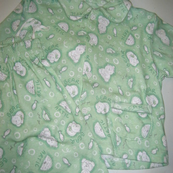 pyjama interlock vert avec poches