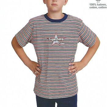 pyjashort coton pour garçon de 6 à 16 ans - ligné