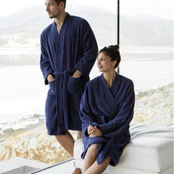 peignoir ou sortie de bain en éponge marine ou blanc unisexe