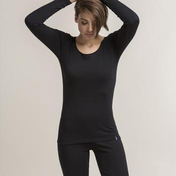 chemisette longues manches antartic écru - gris ou noir