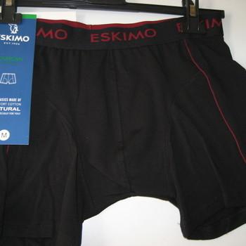 """shorty coton-elasthane """"eskimo"""" pour homme - duncan noir écriture bordeau existe jusque 3XL"""