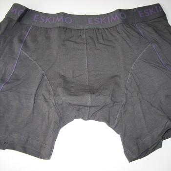 """shorty coton-elasthane """"eskimo"""" pour homme - duncan gris écriture mauve existe jusque XXXL"""