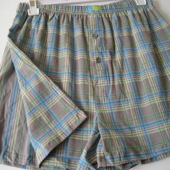 boxer (modèle ample) coton-elasthane pour homme - gris vert XXL -3XL : 2 pour 13.90€