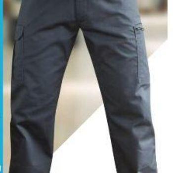 pantalon multipoches basique en gris ou noir - platine/truelle