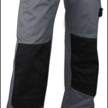 pantalon multipoches avec poches genouillères - gris - plomb
