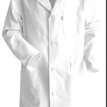 tablier blanc avec pressions 100% coton pour peintre et laboratoire - palette