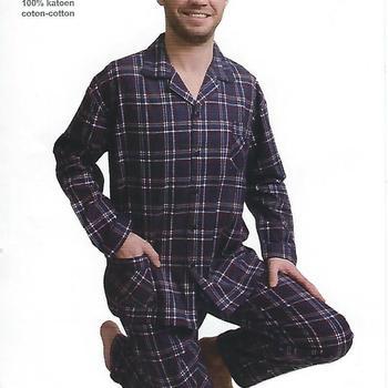 pyjama boutonné flanelle pour homme - scotch RESTE S & M