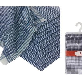 mouchoirs de travail - 100% coton : 6 pour 3.30€