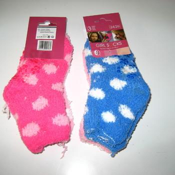 chaussettes anti-dérapente pour enfants pois : 2 paires pour 2€