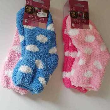 chaussettes anti-dérapantes pour enfants pois : 2 paires pour 2€ 24/26 27/30 31/34 35/38